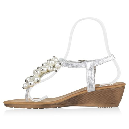 Silber Damen Damen Sandaletten Sandaletten Damen Zehentrenner Sandaletten Zehentrenner Silber Zehentrenner zn6a4rzH
