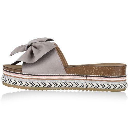 Sandaletten Pantoletten Sandaletten Damen Pantoletten Damen Grau Pantoletten Sandaletten Damen Grau 0qRZ1Ww