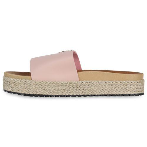 Damen Sandaletten Pantoletten - Rosa