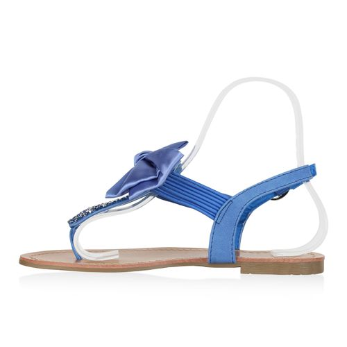 Damen Sandalen Zehentrenner - Hellblau