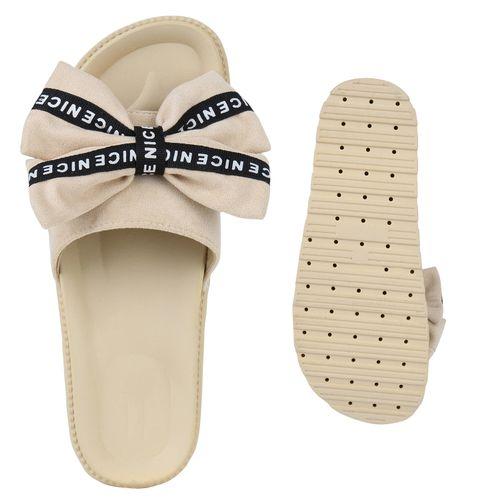 Damen Pantoletten Beige Sandaletten Damen Sandaletten Bqf588