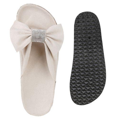 Sandalen Sandalen Damen Pantoletten Damen Pantoletten Beige Beige Damen rqHXHTgt