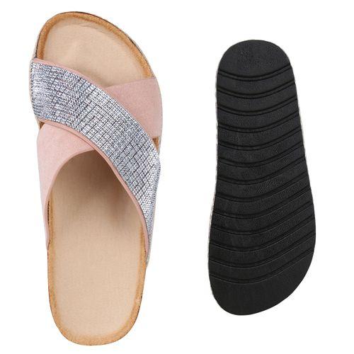 Damen Rosa Pantoletten Damen Sandaletten Sandaletten 47wdYnqB