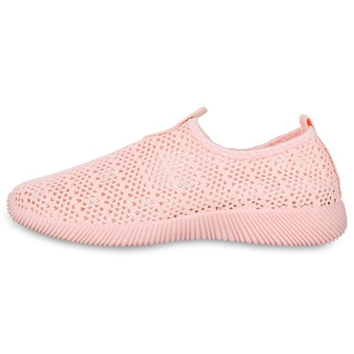 Damen Sportschuhe Slip Ons - Rosa