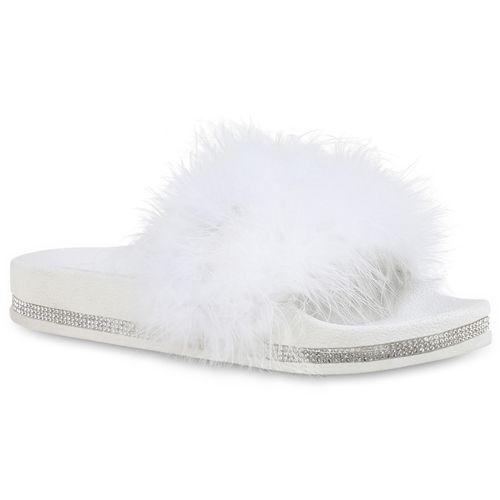 Weiß Pantoletten Damen Sandalen Sandalen Weiß Damen Pantoletten Sandalen Damen qW0nF5FIw