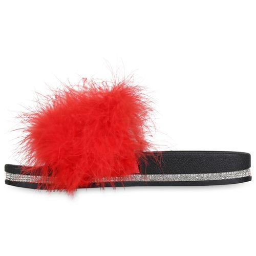 Sandalen Damen Pantoletten Rot Sandalen Damen UY8xwxHq