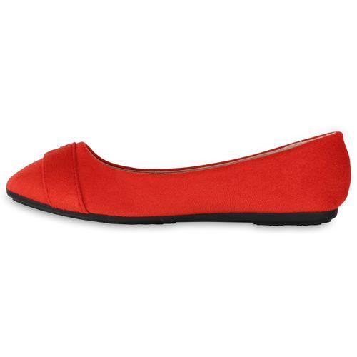 Ballerinas Klassische Ballerinas Klassische Rot Rot Klassische Damen Damen Damen AEIP4Pq