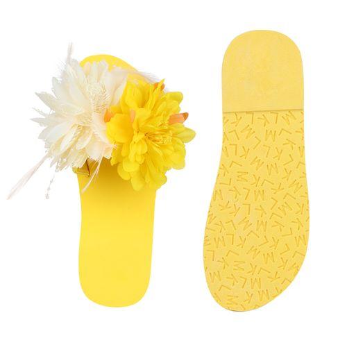 Damen Damen Sandaletten Pantoletten Pantoletten Pantoletten Damen Sandaletten Sandaletten Gelb Gelb E4w1CdqE