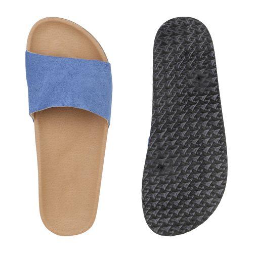 Blau Damen Damen Sandalen Pantoletten Pantoletten Sandalen Damen Blau Sandalen HyFwBqASc