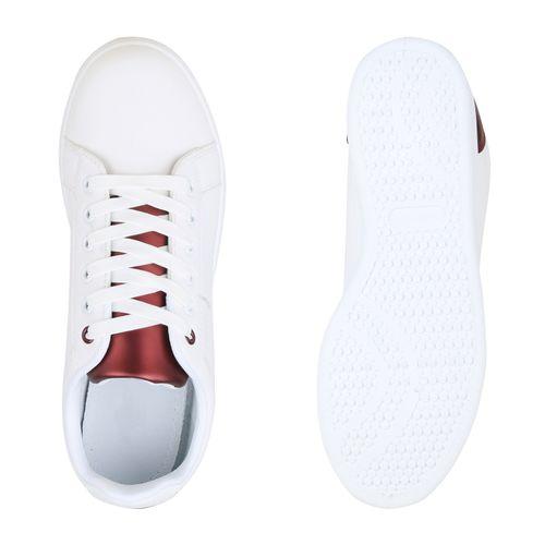 Weiß Herren Herren Low Sneaker Burgund Weiß Burgund Sneaker Herren Low Sneaker xYR7Yzqd