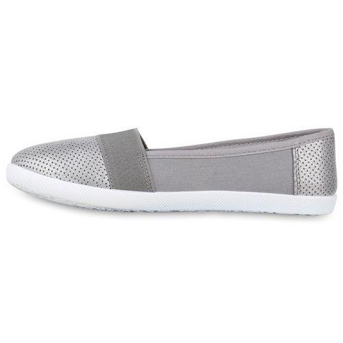 Damen Slippers Slip Ons - Grau