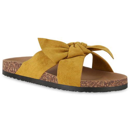 Damen Sandalen Pantoletten - Gelb