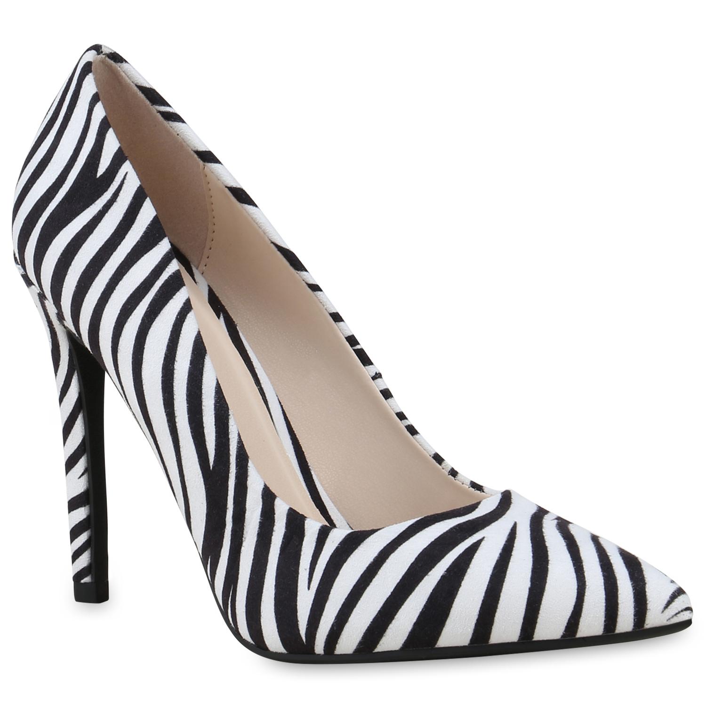 Damen Spitze Pumps - Zebra