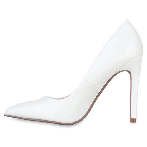Damen Spitze Pumps - Weiß