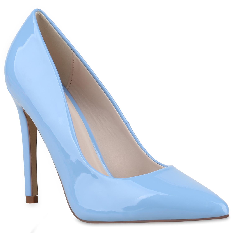 Damen Spitze Pumps - Hellblau