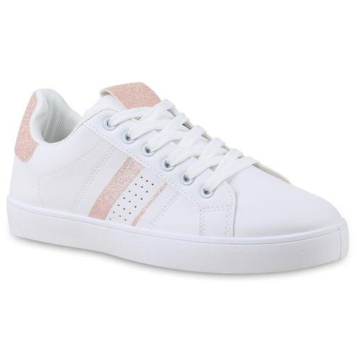 be61672f7067c6 Damen Sneaker in Weiß Rosa (830848-2396) - stiefelparadies.de