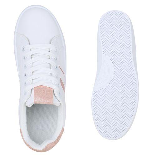 Damen Sneaker low - Weiß Rosa