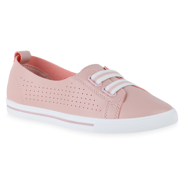 Damen Sneaker Slip Ons - Rosa