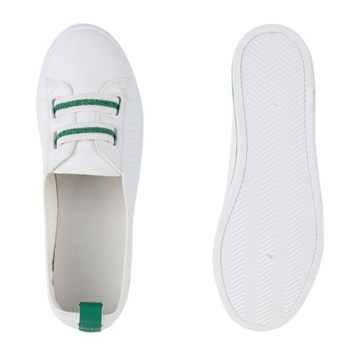 Slip Weiß Grün Sneaker Ons Damen 5qavOx