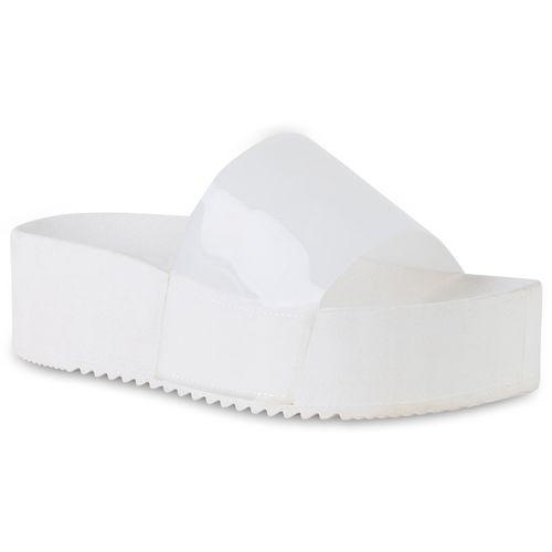 Sandaletten Damen Damen Weiß Pantoletten Pantoletten Weiß Sandaletten 5dqwBt
