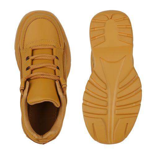 Damen Plateau Sneaker - Khaki