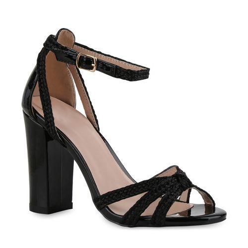 Damen Sandaletten High Heels - Schwarz