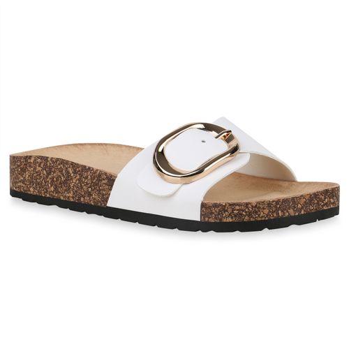 Neue Produkte überlegene Leistung ästhetisches Aussehen Damen Sandalen Pantoletten - Weiß