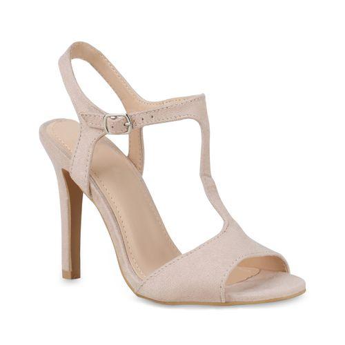 Heels Sandaletten Nude High Damen Sandaletten Damen xoeWrCdB