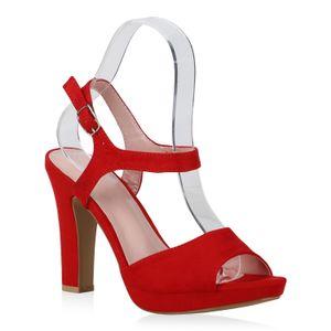 Damen-Sandaletten-Rot