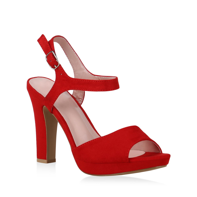 Damen Sandaletten High Heels - Rot