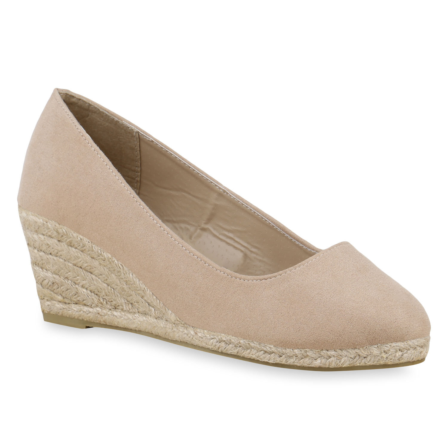 Damen Pumps Keilpumps - Beige