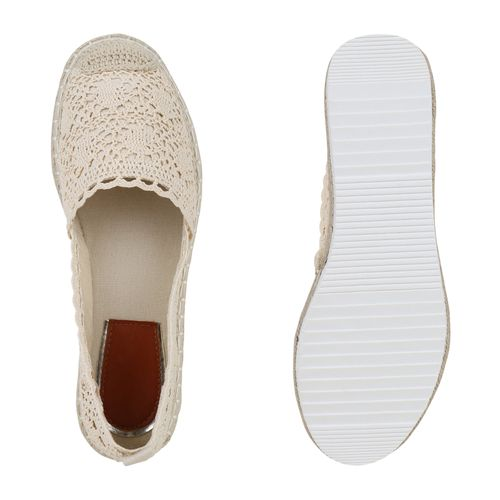 Damen Slippers Espadrilles - Beige