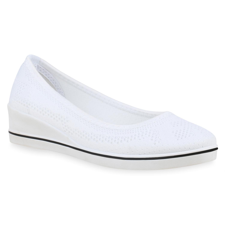 Damen Ballerinas Keilballerinas - Weiß