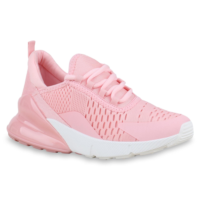 Sportschuhe für Frauen - Damen Sportschuhe Laufschuhe Rosa Weiß  - Onlineshop Stiefelparadies