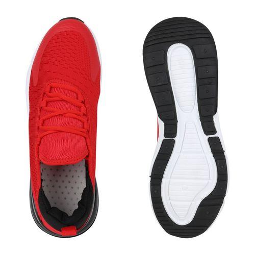 Herren Sportschuhe Laufschuhe - Rot Schwarz Weiß