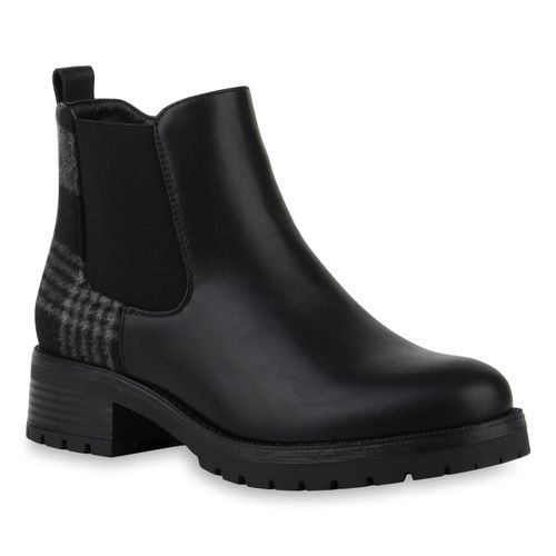 sports shoes 8b7ae d5a11 Damen Klassische Stiefeletten - Schwarz Grau Muster