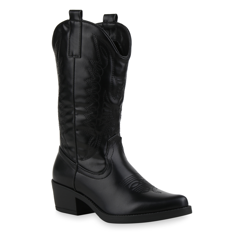 innovative design 09122 772df Damen Stiefel Cowboystiefel - Schwarz
