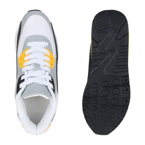 Damen Sportschuhe Laufschuhe - Weiß Hellgrau Gelb