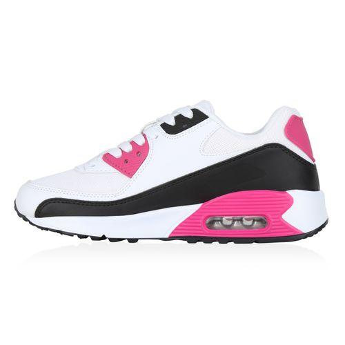 Damen Sportschuhe Laufschuhe - Weiß Schwarz Pink