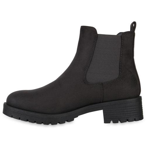 Damen Stiefeletten Chelsea Boots - Dunkelgrau