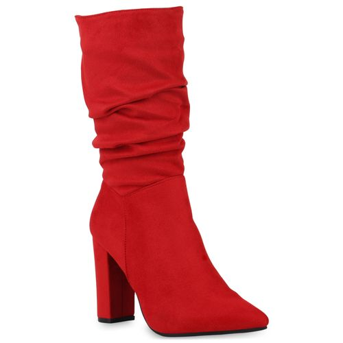 Damen Stiefel High Heels - Rot