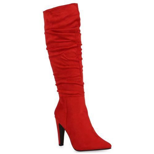 Damen Stiefel High Heels - Rot