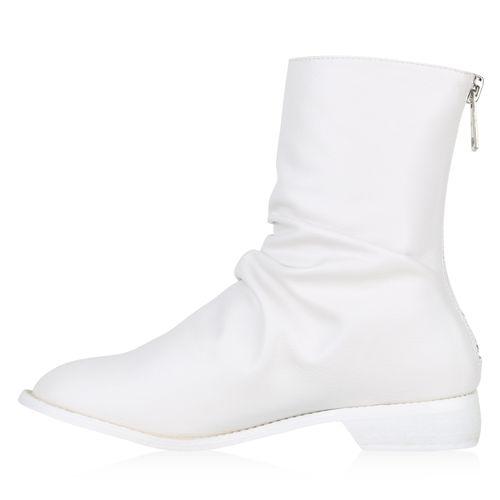 Damen Klassische Stiefeletten - Weiß
