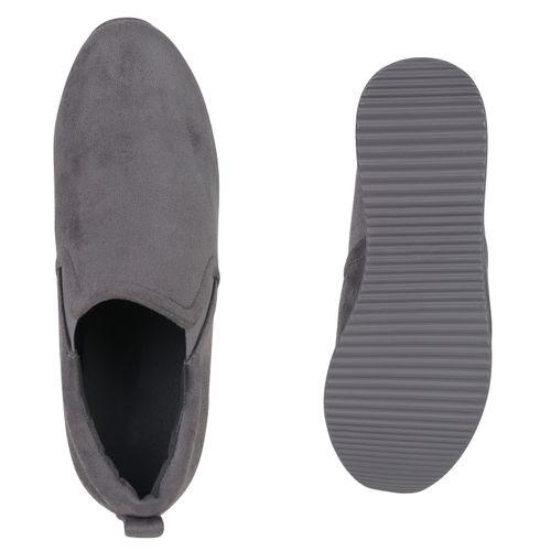 Damen Sneaker Wedges - Grau