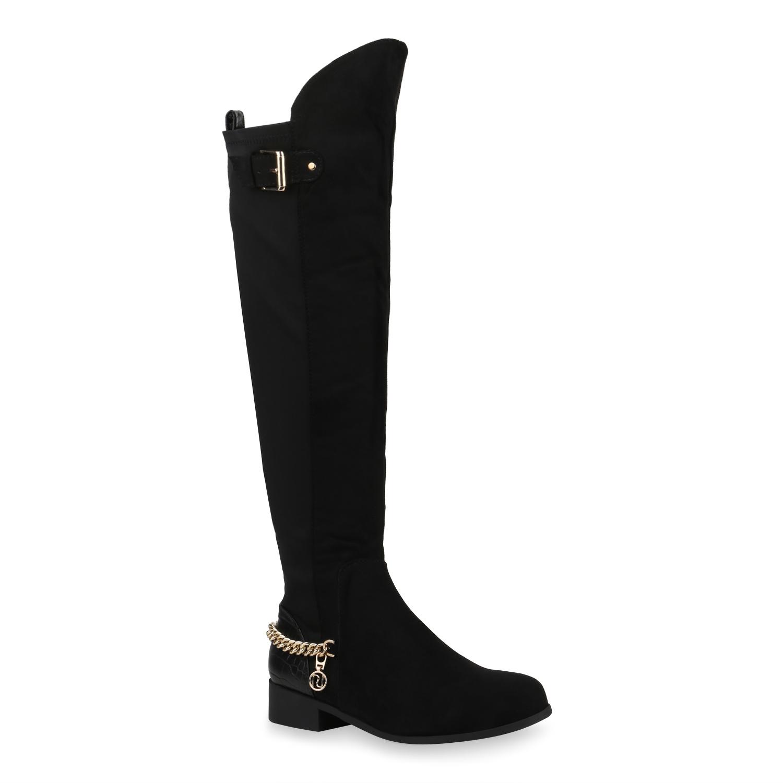 Damen Klassische Stiefel - Schwarz Kroko