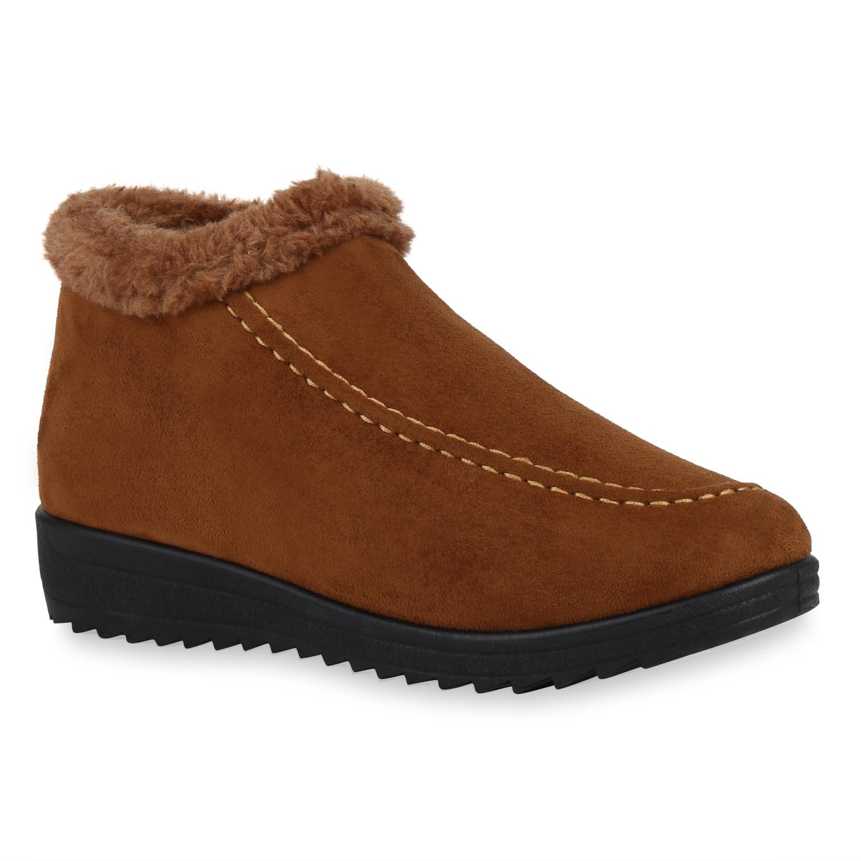 Damen Stiefeletten Ankle Boots - Hellbraun