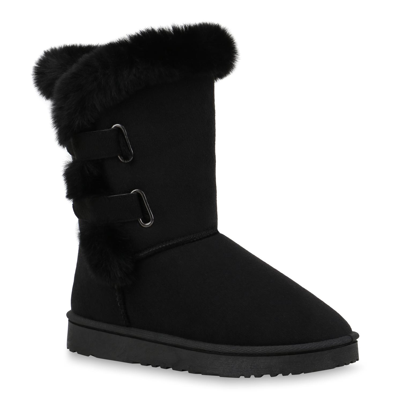 Stiefel mit Kunstfell gefüttert GRAU ANGEBOT* Super warme winter BOOTS