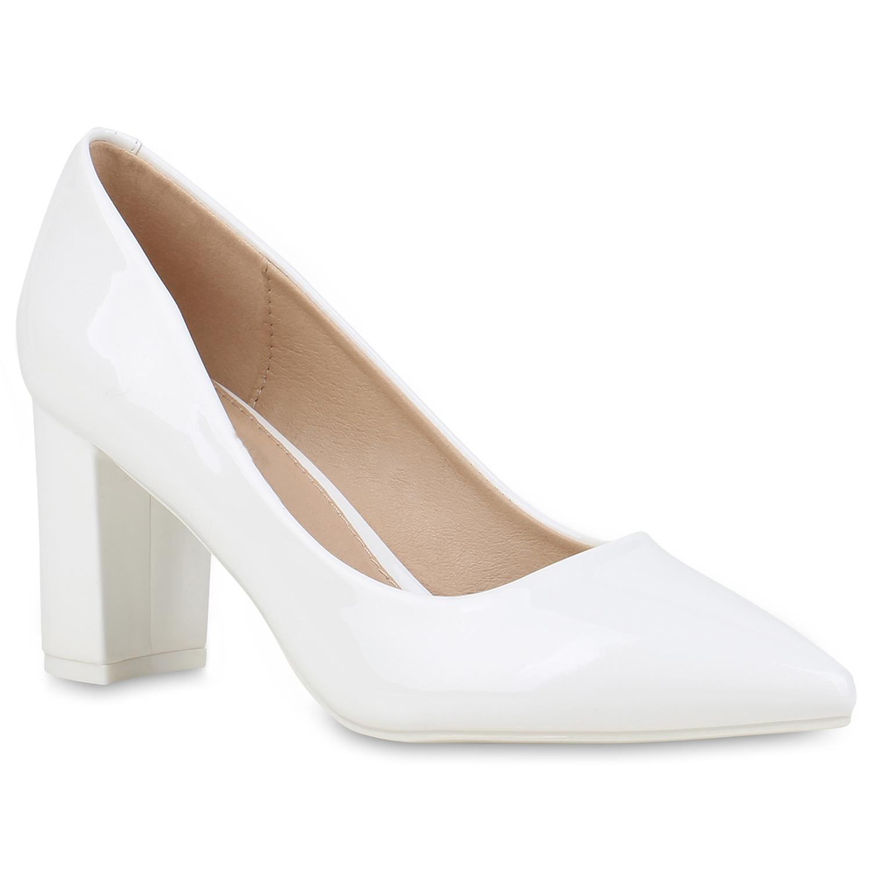 Pumps für Frauen - Damen Spitze Pumps Weiß › stiefelpardies.de  - Onlineshop Stiefelparadies