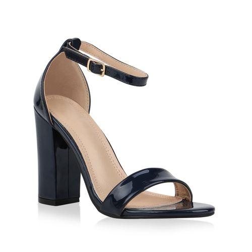 Damen Sandaletten High Heels - Dunkelblau