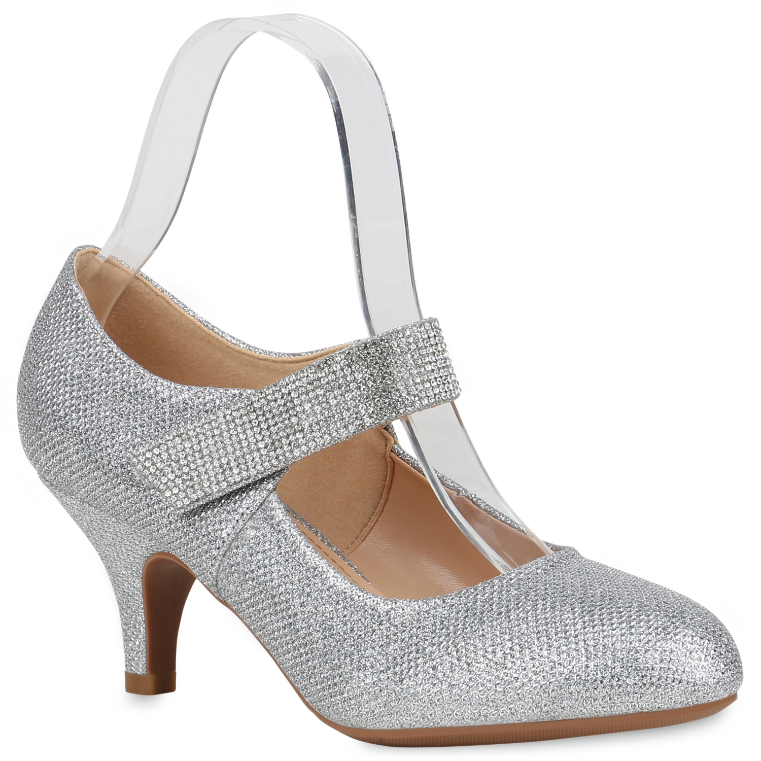 Damen Pumps Mary Janes - Silber